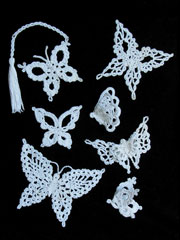 Enchanting Lace Butterflies Crochet Pattern - Electronic Download