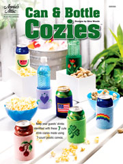 Can & Bottle Cozies Plastic Canvas Pattern - Electronic Download