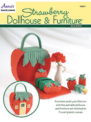 Strawberry Dollhouse & Furniture Plastic Canvas Pattern