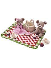 Teddy Bear Picnic Crochet Pattern - Electronic Download