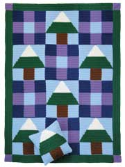 Snowy Pines Patchwork Set