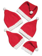Santa Hats for the Family Crochet Pattern - Electronic Download