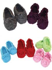 Family Time Slippers Crochet Pattern Pack - Electronic Download