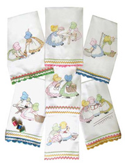 Friends Tea Towel Iron-On Embroidery Patterns