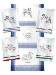 Snow Fun Iron-On Embroidery Pattern
