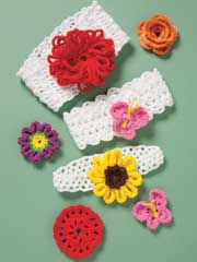 Colorful Crochet Baby Headbands - Electronic Download
