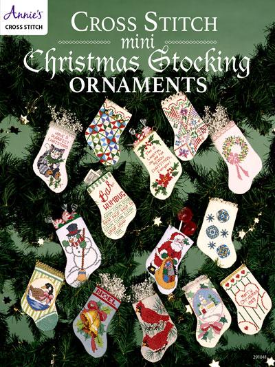 Cross Stitch Mini Christmas Stocking Ornaments