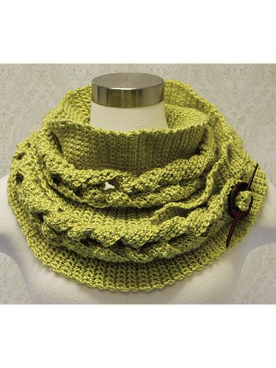 Big Cable Crochet Cowl