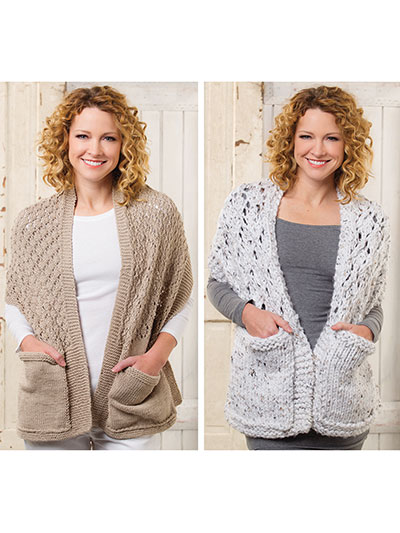 Readers Wraps Knit Pattern - Electronic Download