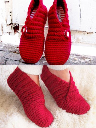 Red Rib Basic Slippers