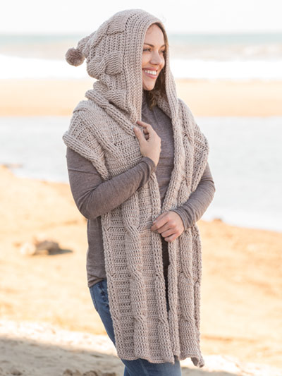 Hoodie Scarf Crochet Pattern