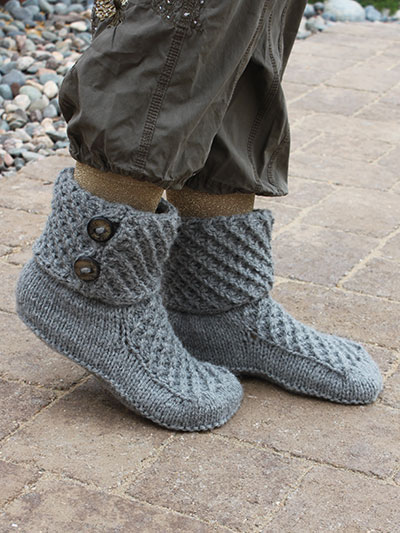 Walk of Fame Slippers Knit Pattern