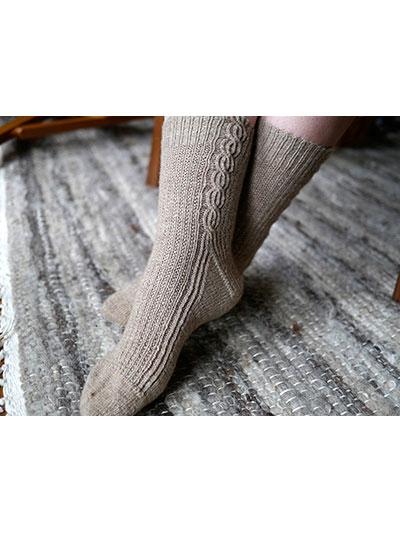 Waffle Creams Socks Knit Pattern