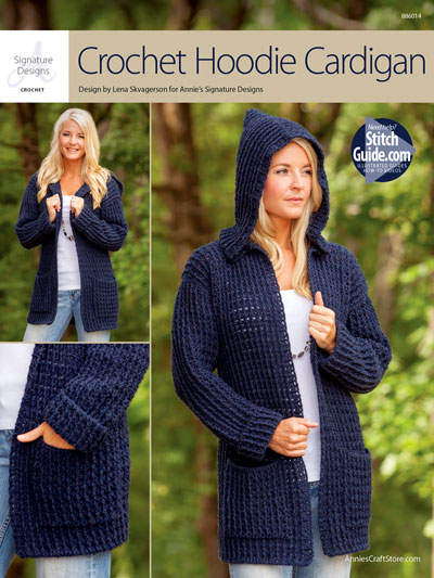 ANNIE'S SIGNATURE DESIGNS: Crochet Hoodie Cardigan Crochet Pattern
