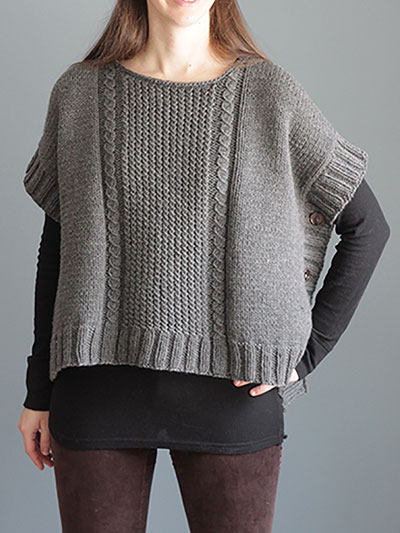 Margo Poncho Knit Pattern