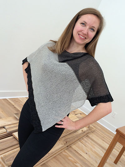 Lefty Poncho Knit Pattern