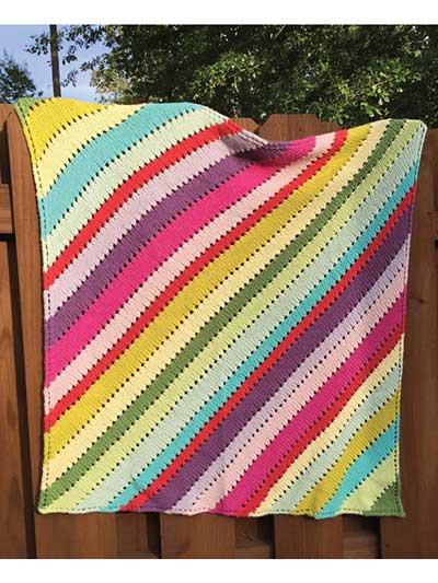 Fruit Stripe Blanket Knit Pattern