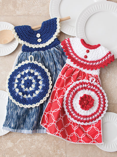 Dress Me Up Towel Toppers and Pot Holders Crochet Pattern