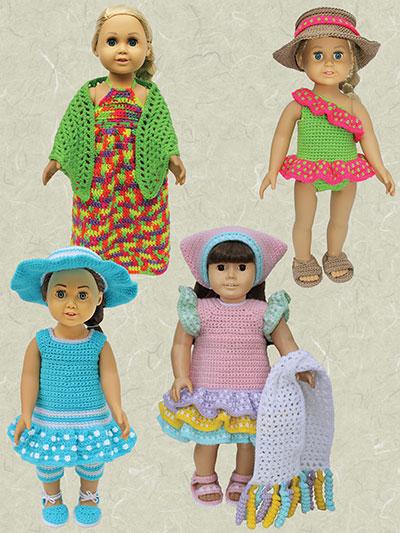 "Caribbean Cruise for 18"" Dolls Crochet Pattern"