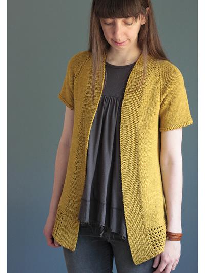Passing Showers Cardigan Knit Pattern