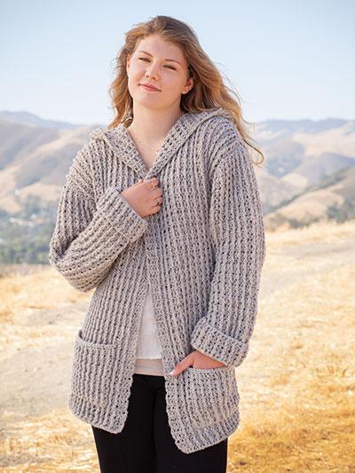 ANNIE'S SIGNATURE DESIGNS: Hoodie Cardigan Crochet Pattern