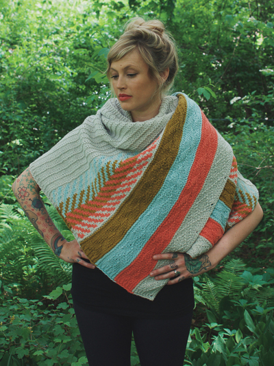 Om Shawl Knit Pattern