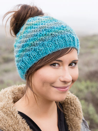 ANNIE'S SIGNATURE DESIGN: Messy Bun Knit Hat