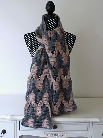 Interwoven Scarf Crochet Pattern