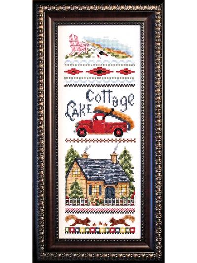 Lake Cottage Counted Cross Stitch