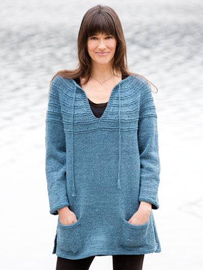 Lena's Top-Down Sweater Knit Pattern