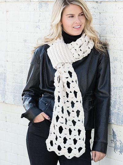 Chunky Lace Scarf Crochet Pattern