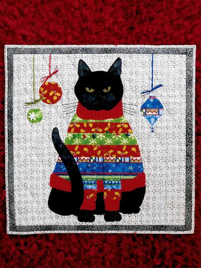 Bah Humbug Cat Quilt Pattern