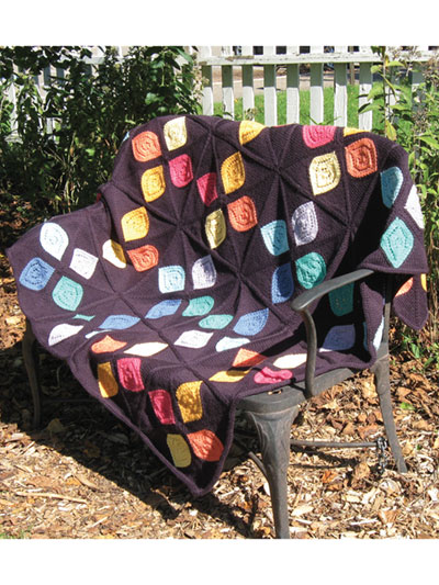 Stained Glass Afghan Knit Pattern