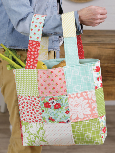 Market Bag Sewing Pattern - Electronic Download