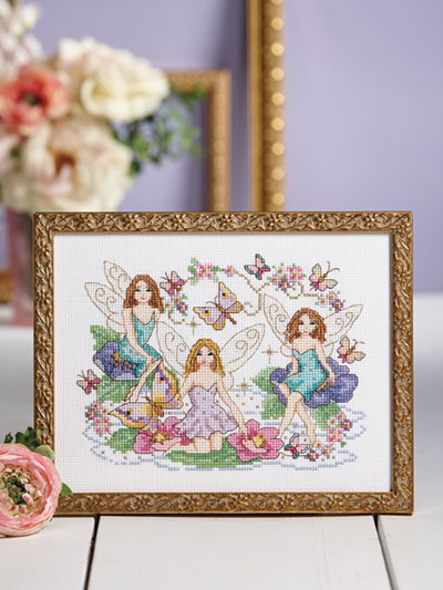 Magical Fairies Cross Stitch Pattern - Electronic Download