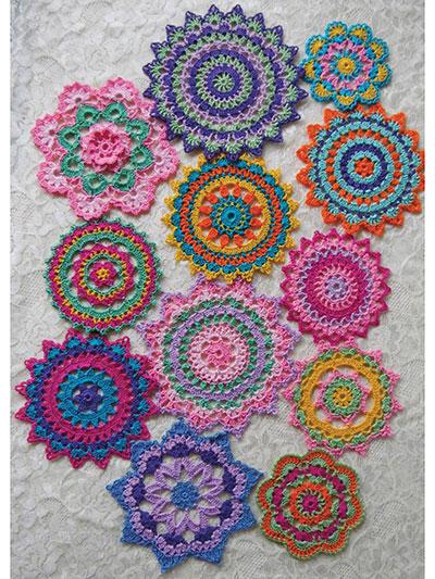Mini Mandala Doilies Crochet Pattern