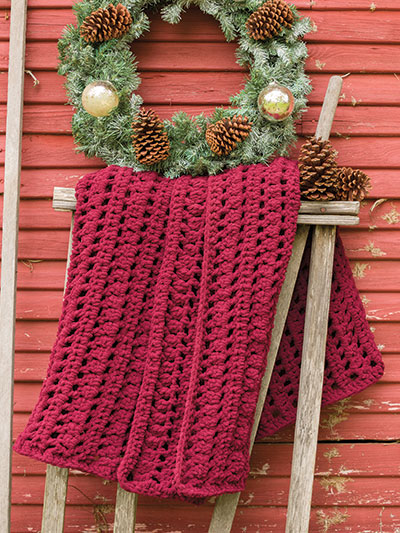Plum-A-Licious Throw Crochet Pattern - Electronic Download