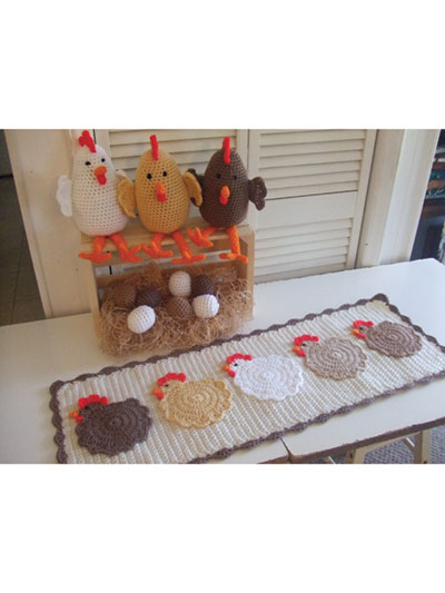 Farmhouse Chickens Crochet Pattern - Electronic Download