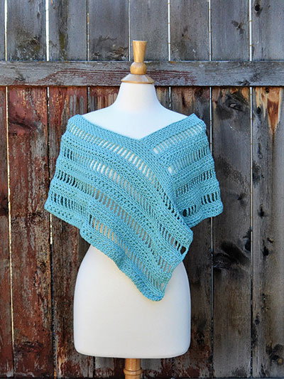 Whispering Willows Poncho Crochet Pattern - Electronic Download