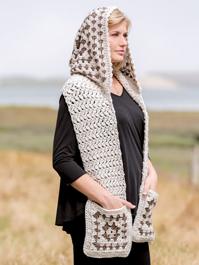 ANNIE'S SIGNATURE DESIGNS: Bethany Hooded Scarf Crochet Pattern - Electronic Download