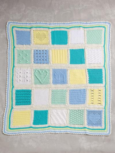 Baby & Me Sampler Afghan Crochet Pattern - Electronic Download