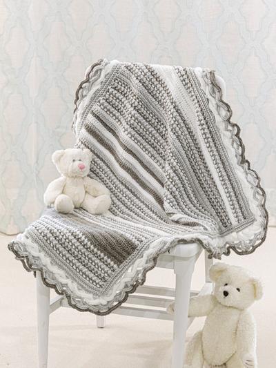 Textured Elegance Baby Afghan Crochet Pattern