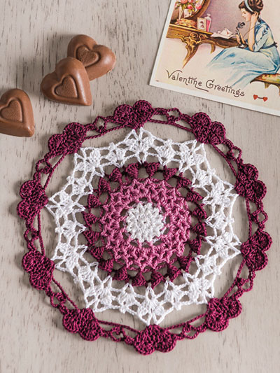 Victorian Valentine Doily Crochet Pattern - Electronic Download