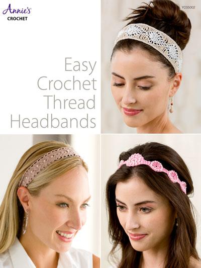 Easy Crochet Thread Headbands Pattern
