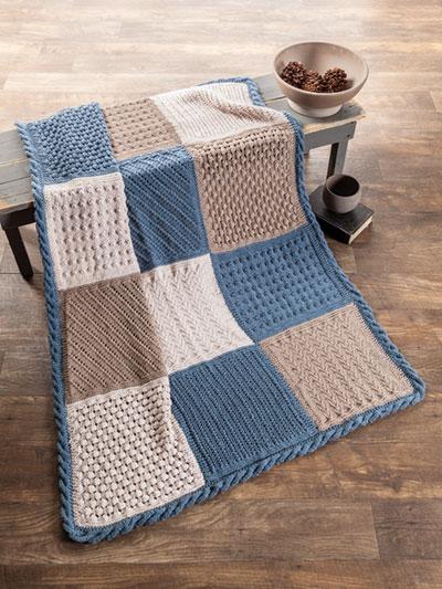 Verity Block Knit Afghan Pattern
