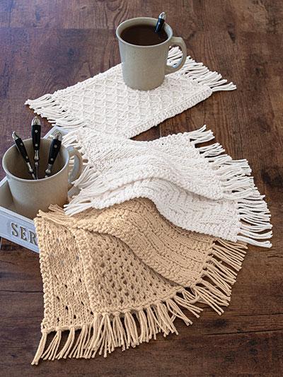 ANNIE'S SIGNATURE DESIGNS: Rustic Knit Mug Rugs Kit