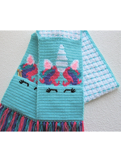 Unicorn Pocket Scarf Crochet Pattern