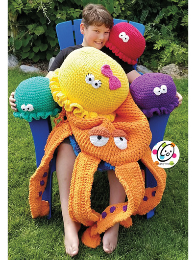 Huge Hector & the Jellies Crochet Pattern - Electronic Download