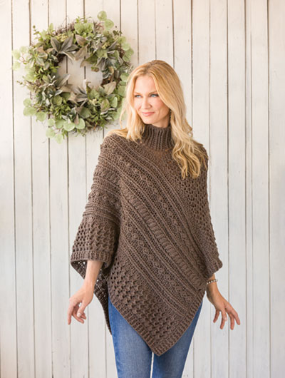 Solari Poncho Crochet Pattern - Electronic Download