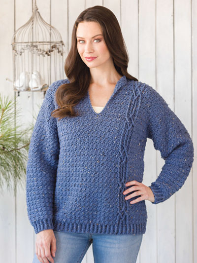 Crochet 101! Your First Sweater - One Cable Wonder Sweater Pattern - Electronic Download